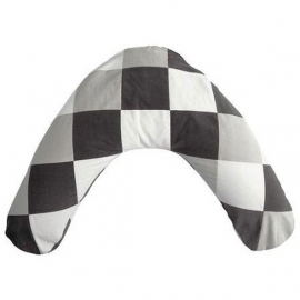 Jollein Voedingskussenhoes Colourful check grey/white