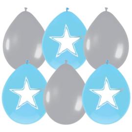 Ballonnen Baby jongen beschrijfbaar 30cm 6st
