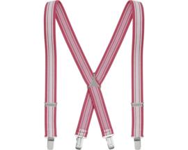 Bretels roze gestreept