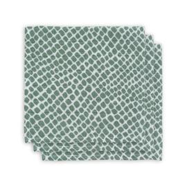 Monddoekje hydrofiel Snake ash green(3pack)