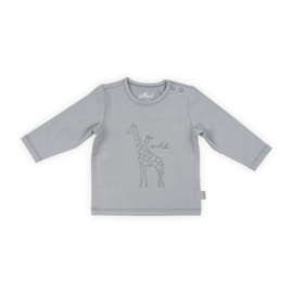 Jollein Shirt lange mouw  Safari grey