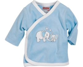 Wikkel shirt Nicki olifant blauw