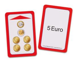 Magische hoed opdrachtkaarten, euro's en centen