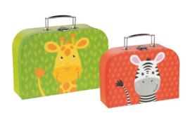 Koffertje zebra