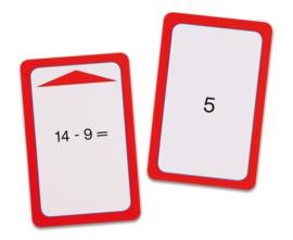 Magische hoed opdrachtkaarten, aftrekken tot 10