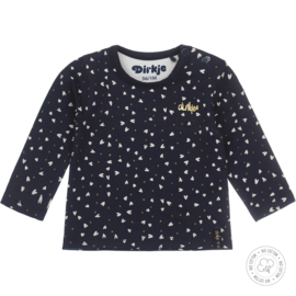 Dirkje meisjes t-shirt navy Bio Katoen