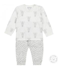 Dirkje meisjes pyjama Zebra off white Bio Katoen