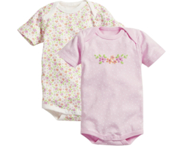 Set van 2 rompers korte mouw Flowers