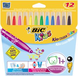 Kleurstiften Bic Kids Baby Couleur, 12 stuks
