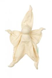 Hoppa sisco muslin - Cream knuffeldoek