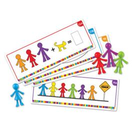 Opdrachtkaarten voor kleurrijke mensenfamilie