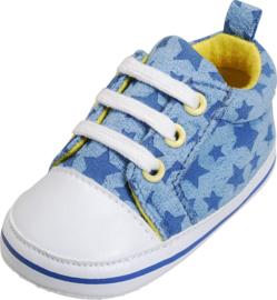 Canvas babyschoentje sterren blauw