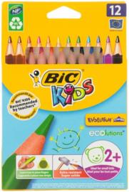 Kleurpotloden Bic Evolution Triangle, 12 stuks