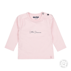 Dirkje meisjes t-shirt Little Dreams licht roze Bio Katoen