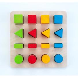 Sorteerbord geometrische kleur / grootte