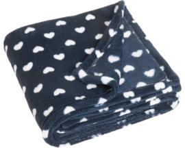 Fleece deken harten 75 x 100 cm
