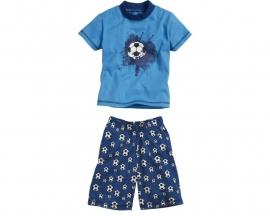 Shortama blauw voetbal