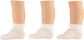 Sokken wit, set van 3 paar