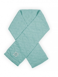 Sjaal Diamond knit vintage jade green