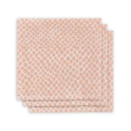 Monddoekje hydrofiel Snake pale pink (3pack)