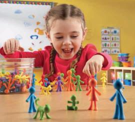 Kleurrijke mensenfamilie 72-delig