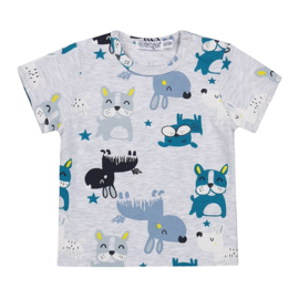 Dirkje jongens baby T-shirt grijs hond