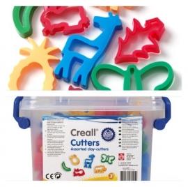 Creall uitsteekvormen klei in box 28 stuks