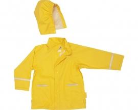 Regenjas uni geel