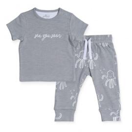 Jollein Broekje & T shirt Octopus grey