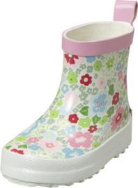 Playshoes halfhoge regenlaarzen roze bloemen maat 20