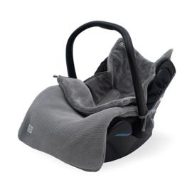 Jollein Voetenzak groep 0+ 3/5 punts Basic knit stone grey