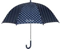 Playshoes - Kinder paraplu met stippen - Donkerblauw - maat Onesize