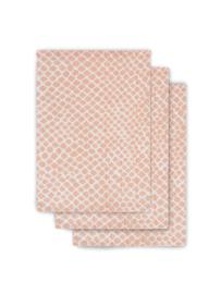 Jollein Hydrofiel washandje hydrofiel Snake pale pink (3pack)
