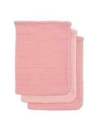 Jollein Washandjes Hydrofiel Bamboe - Pale Pink - 3 Stuks