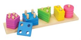 Kleur- en vormen sorteerspel