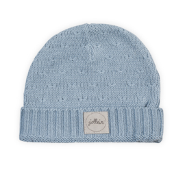 Jollein Muts 2 tot 9 mnd Soft knit soft blue