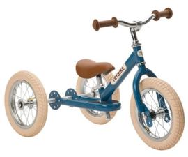 Trybike Steel 2-in-1 loopfiets / driewieler vintage blauw