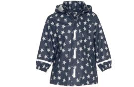 Regenjas blauw met witte sterren