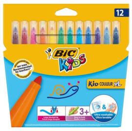 Kleurstiften Bic Kid Couleur XL, 12 stuks