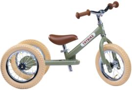 Trybike Steel 2-in-1 loopfiets / driewieler vintage green