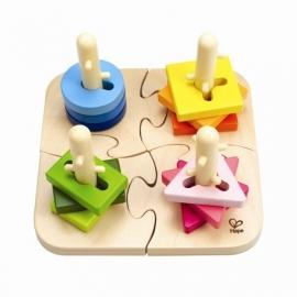 Uitdagend puzzel- sorteerplank