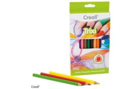 Creall Trixi driekantige kleurpotloden dik