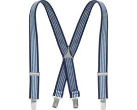 Bretels blauw gestreept