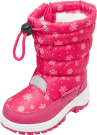 Snowboots sneeuwvlokken roze
