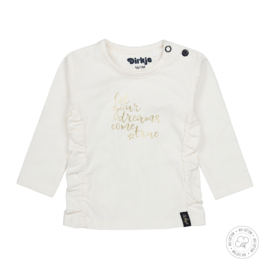 Dirkje meisjes t-shirt off white Bio Katoen