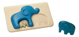 Houten puzzel Olifanten familie