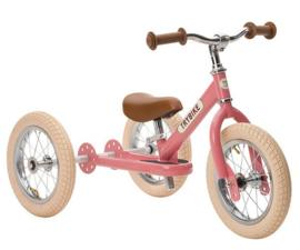 Trybike Steel 2-in-1 loopfiets / driewieler vintage roze
