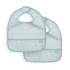 Jollein Slab waterproof Snake soft green (2pack)