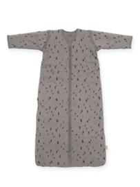 Baby slaapzak Spot storm grey met afritsbare mouw
