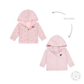 Dirkje meisjes babyjasje reversible licht roze Bio Katoen